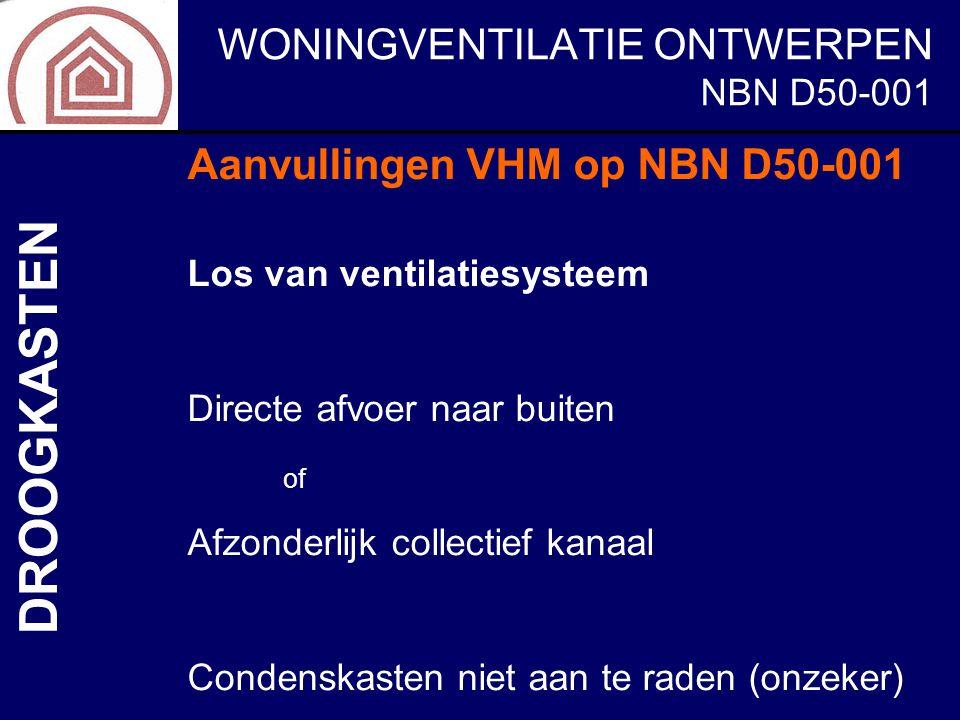 DROOGKASTEN Aanvullingen VHM op NBN D50-001 NBN D50-001