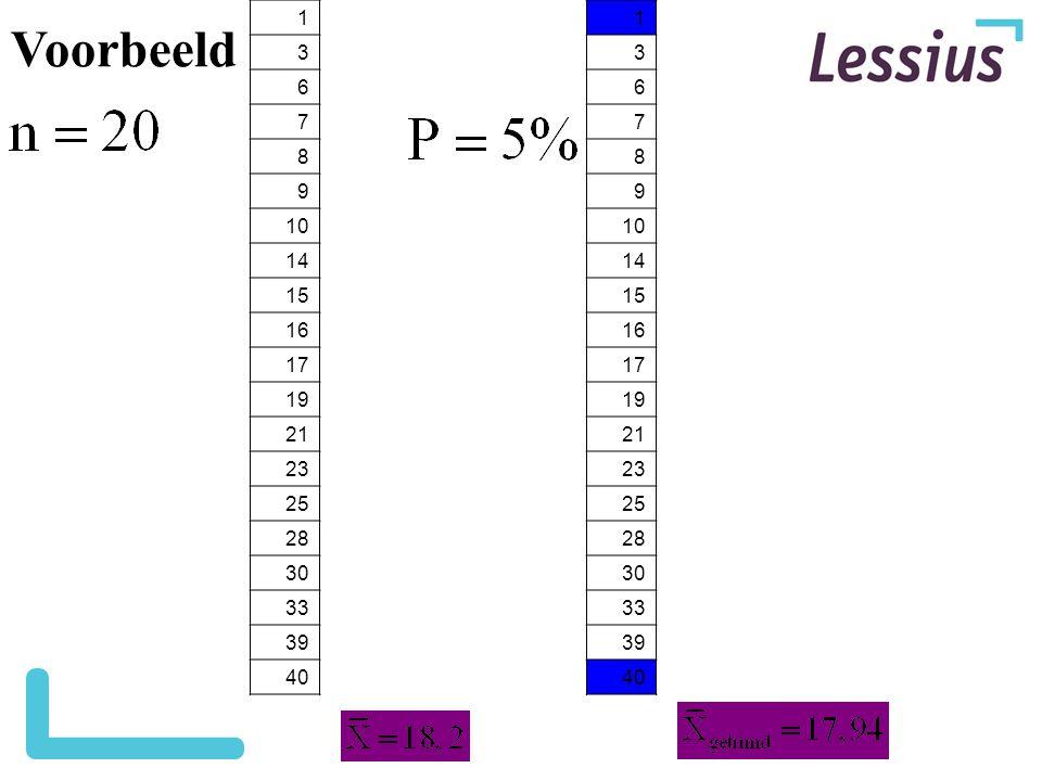 Voorbeeld 1. 3. 6. 7. 8. 9. 10. 14. 15. 16. 17. 19. 21. 23. 25. 28. 30. 33. 39. 40.