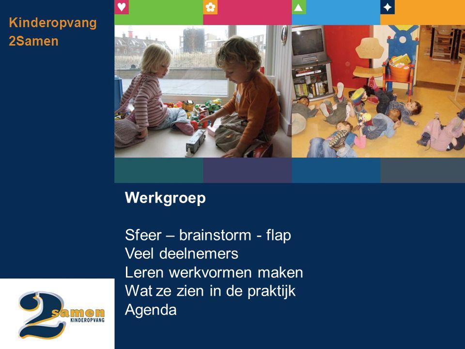 Sfeer – brainstorm - flap Veel deelnemers Leren werkvormen maken