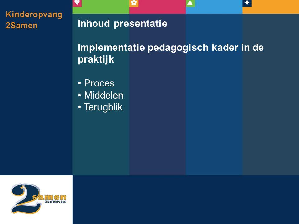 Implementatie pedagogisch kader in de praktijk
