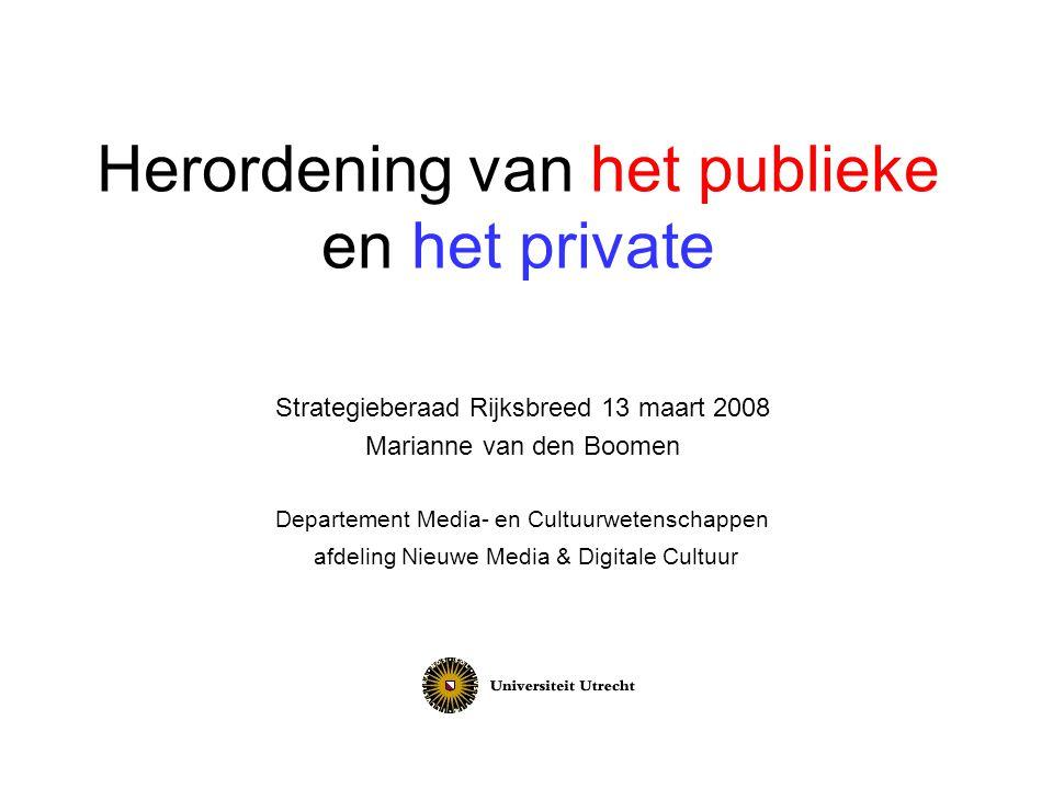 Herordening van het publieke en het private