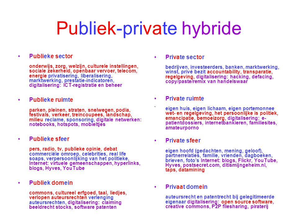 Publiek-private hybride