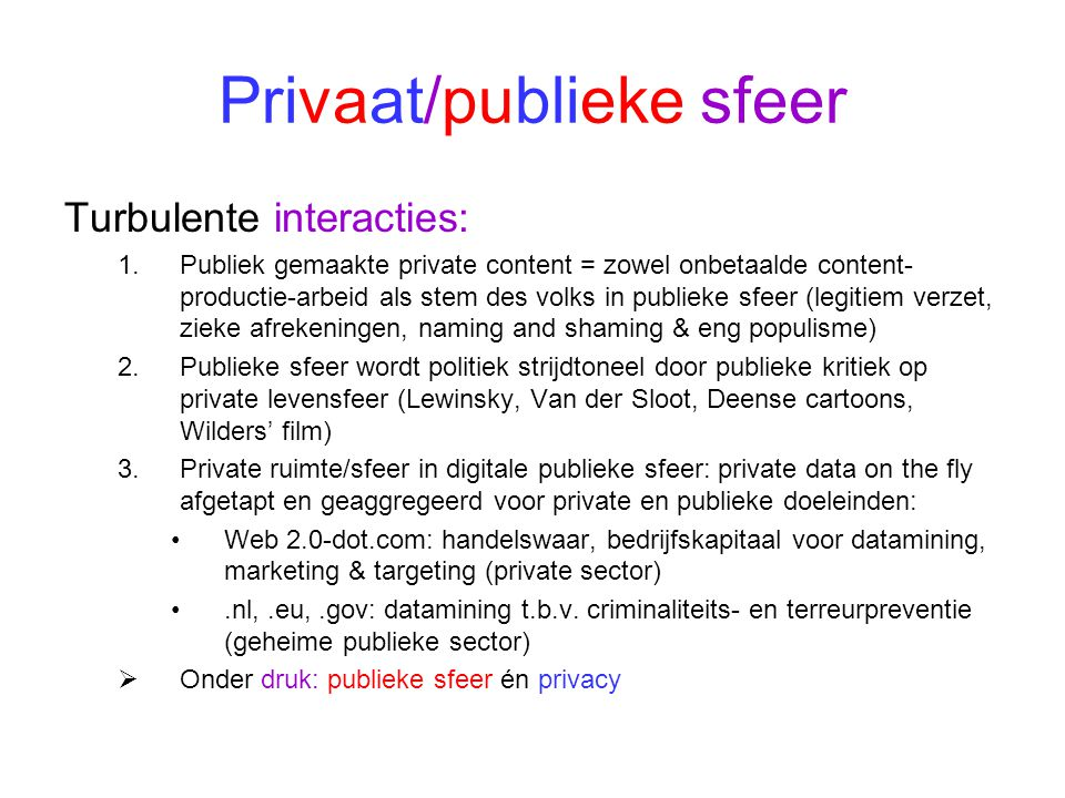 Privaat/publieke sfeer