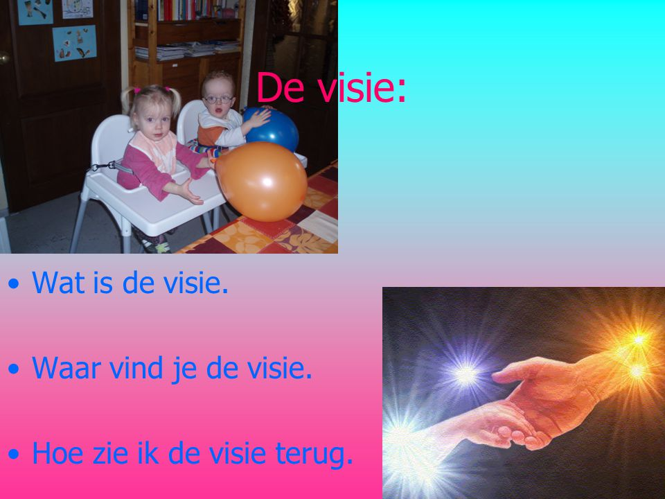 De visie: Wat is de visie. Waar vind je de visie.