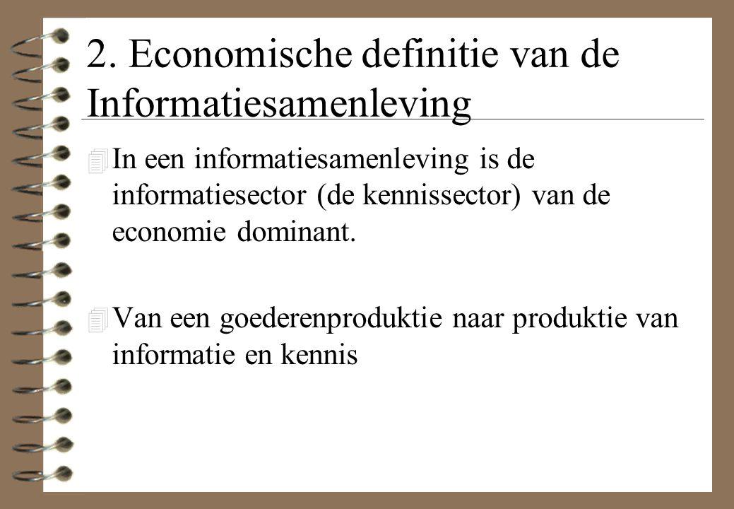 2. Economische definitie van de Informatiesamenleving