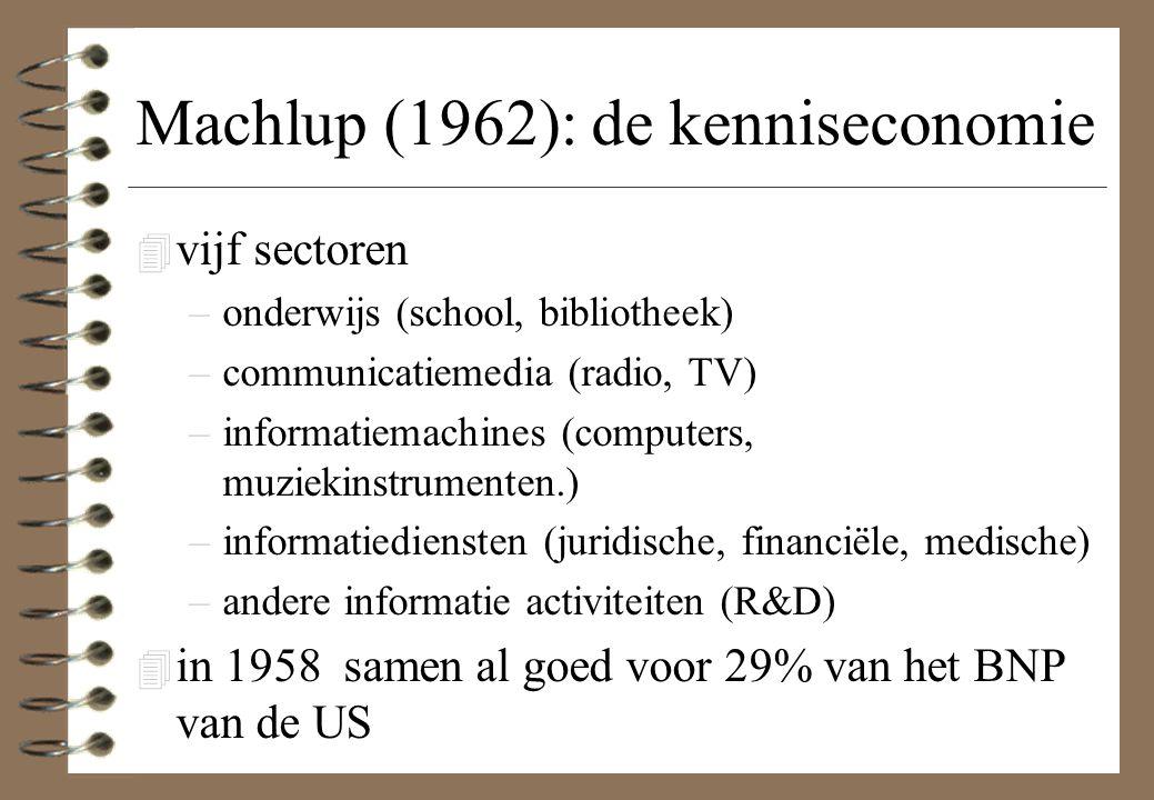 Machlup (1962): de kenniseconomie