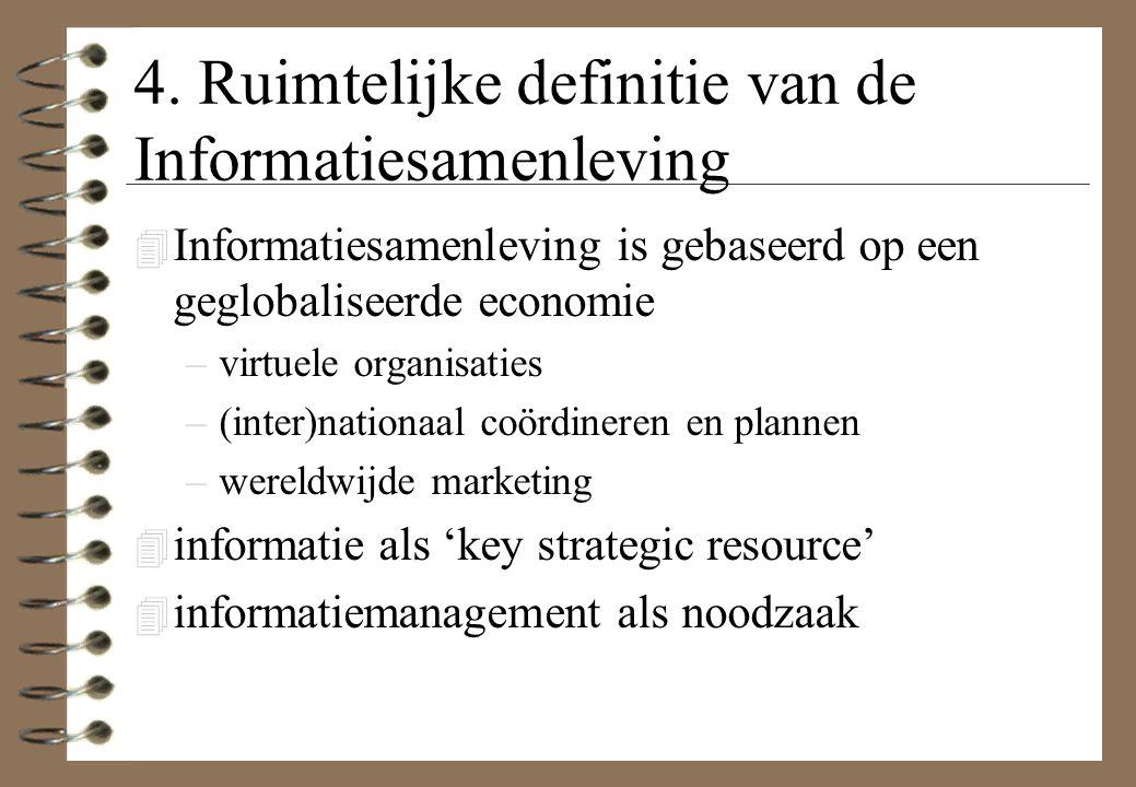 4. Ruimtelijke definitie van de Informatiesamenleving
