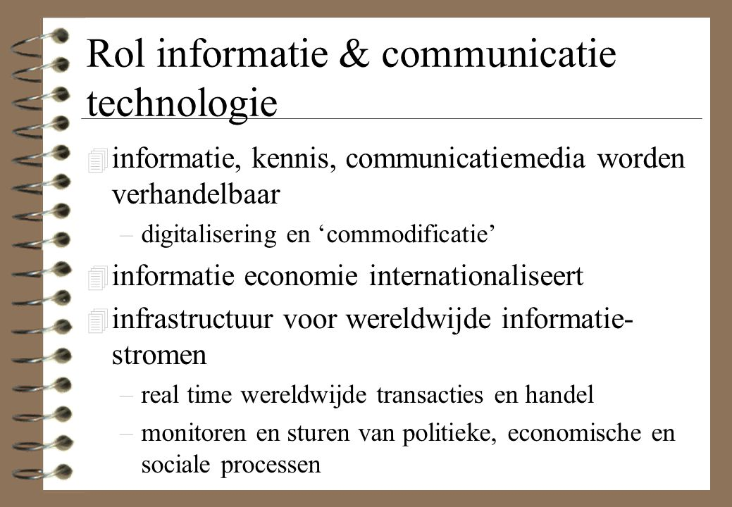 Rol informatie & communicatie technologie