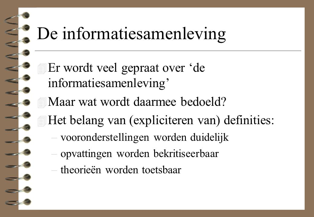 De informatiesamenleving