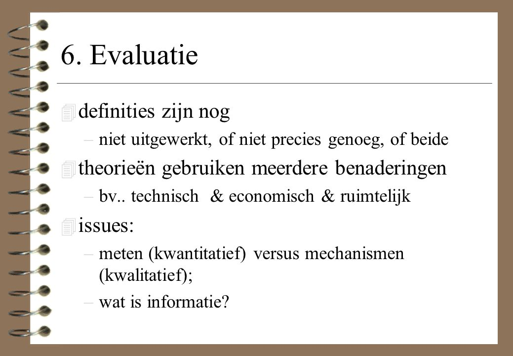 6. Evaluatie definities zijn nog