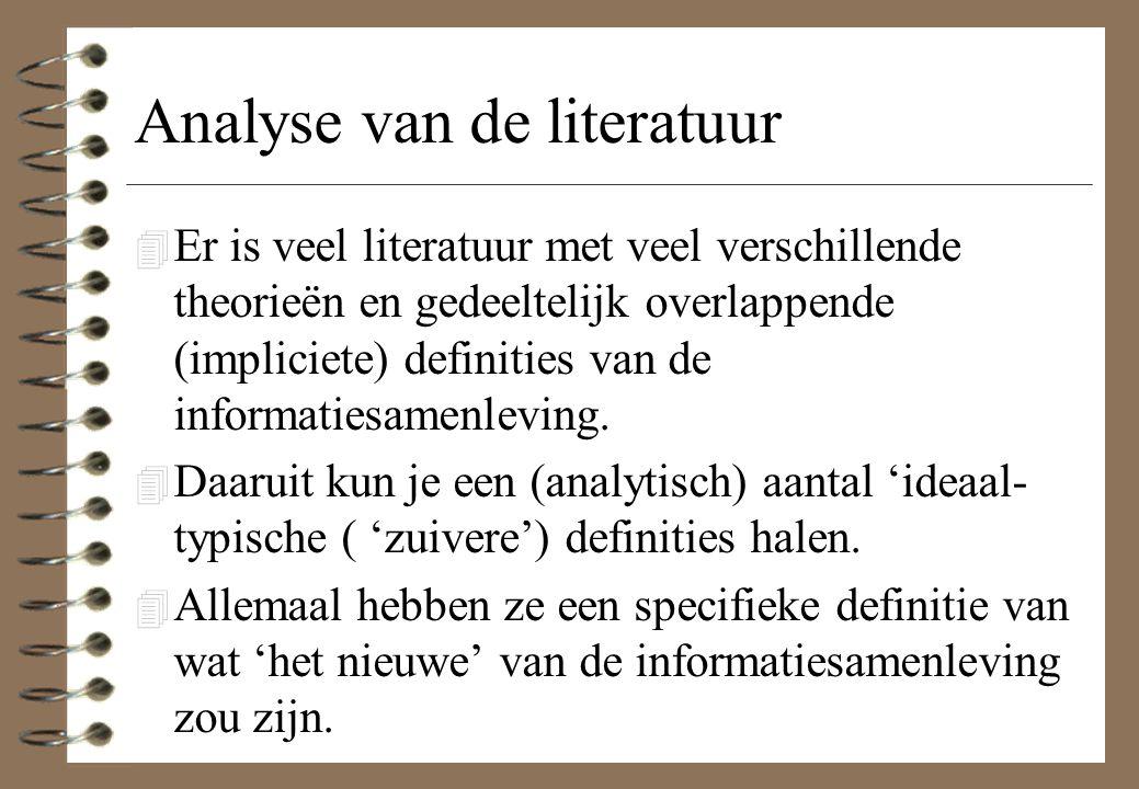 Analyse van de literatuur