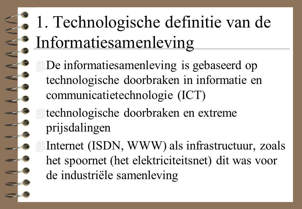1. Technologische definitie van de Informatiesamenleving