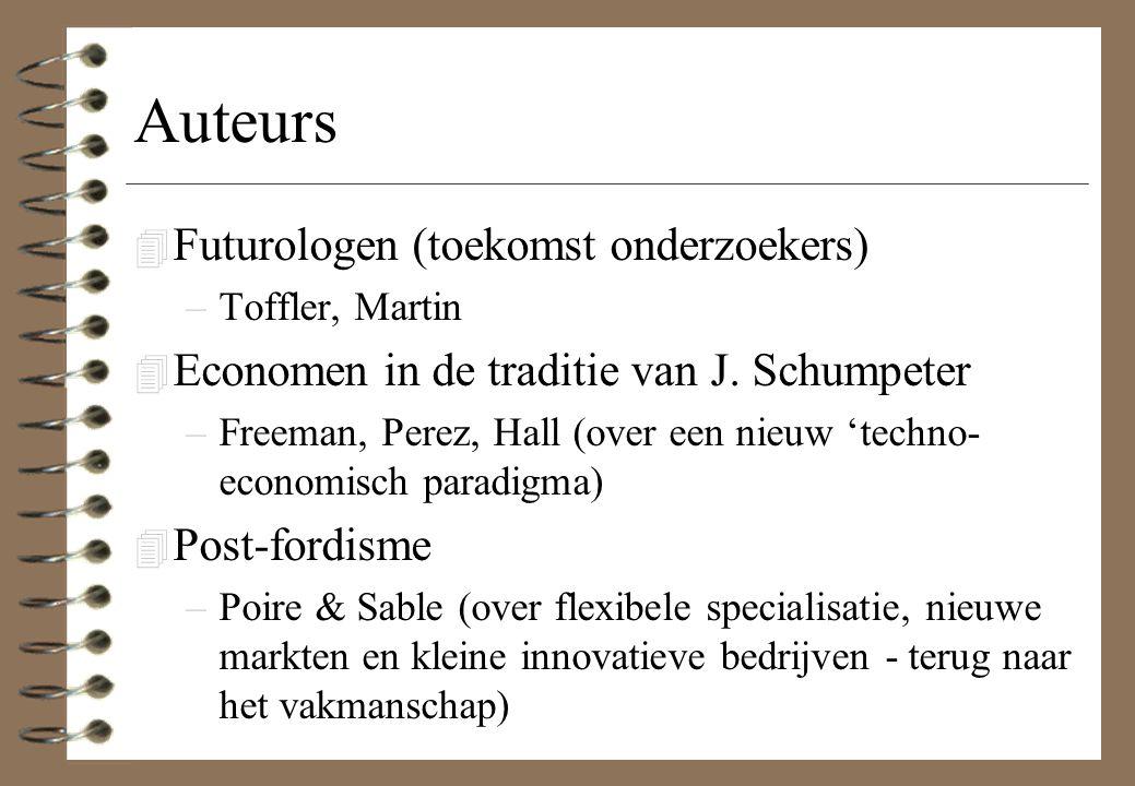 Auteurs Futurologen (toekomst onderzoekers)
