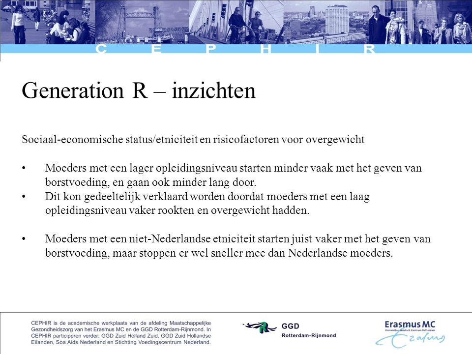 Generation R – inzichten