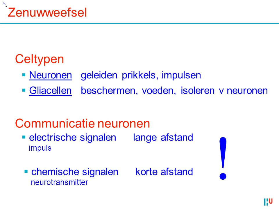 ! Zenuwweefsel Celtypen Communicatie neuronen Neuronen