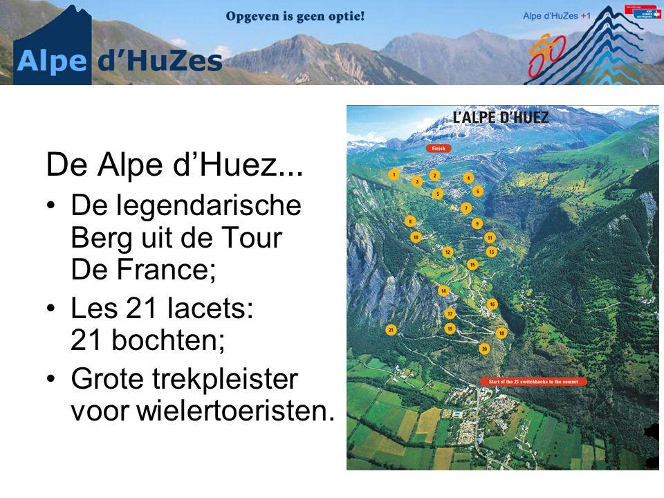 De Alpe d'Huez... De legendarische Berg uit de Tour De France;
