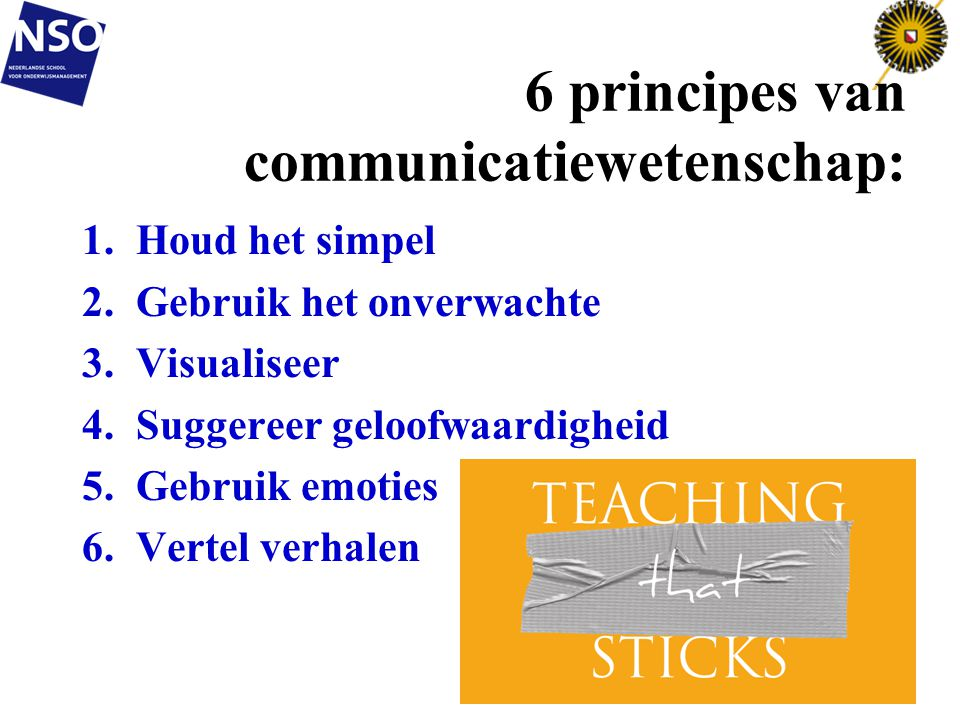 6 principes van communicatiewetenschap: