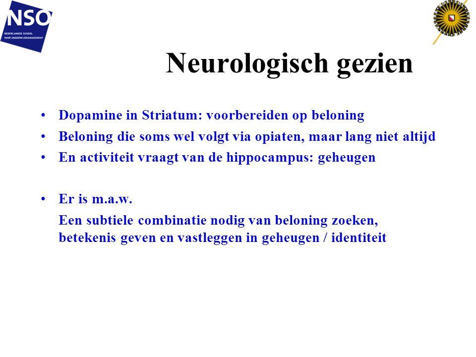 Neurologisch gezien Dopamine in Striatum: voorbereiden op beloning