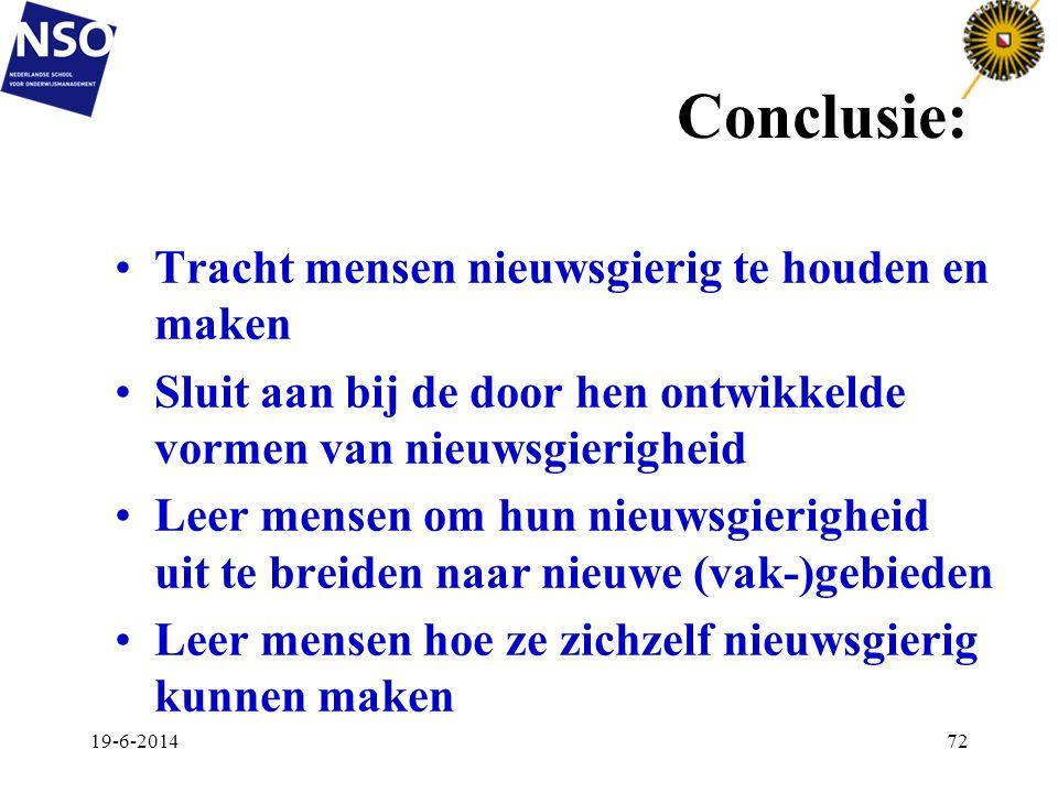 Conclusie: Tracht mensen nieuwsgierig te houden en maken