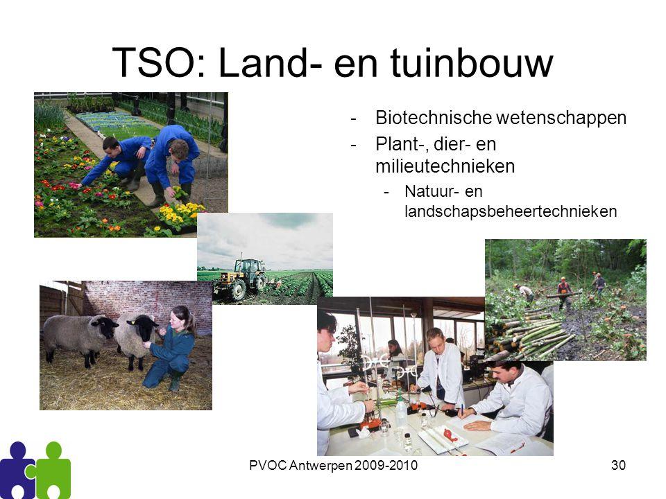 TSO: Land- en tuinbouw Biotechnische wetenschappen