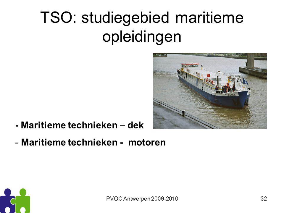 TSO: studiegebied maritieme opleidingen