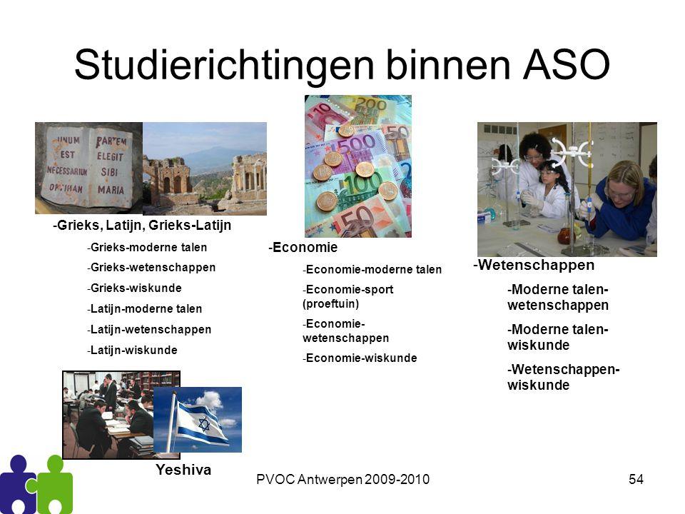 Studierichtingen binnen ASO