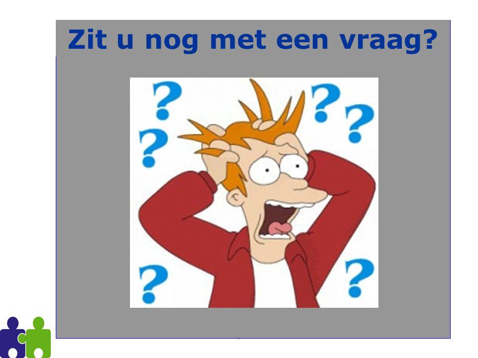 Zit u nog met een vraag PVOC Antwerpen 2009-2010