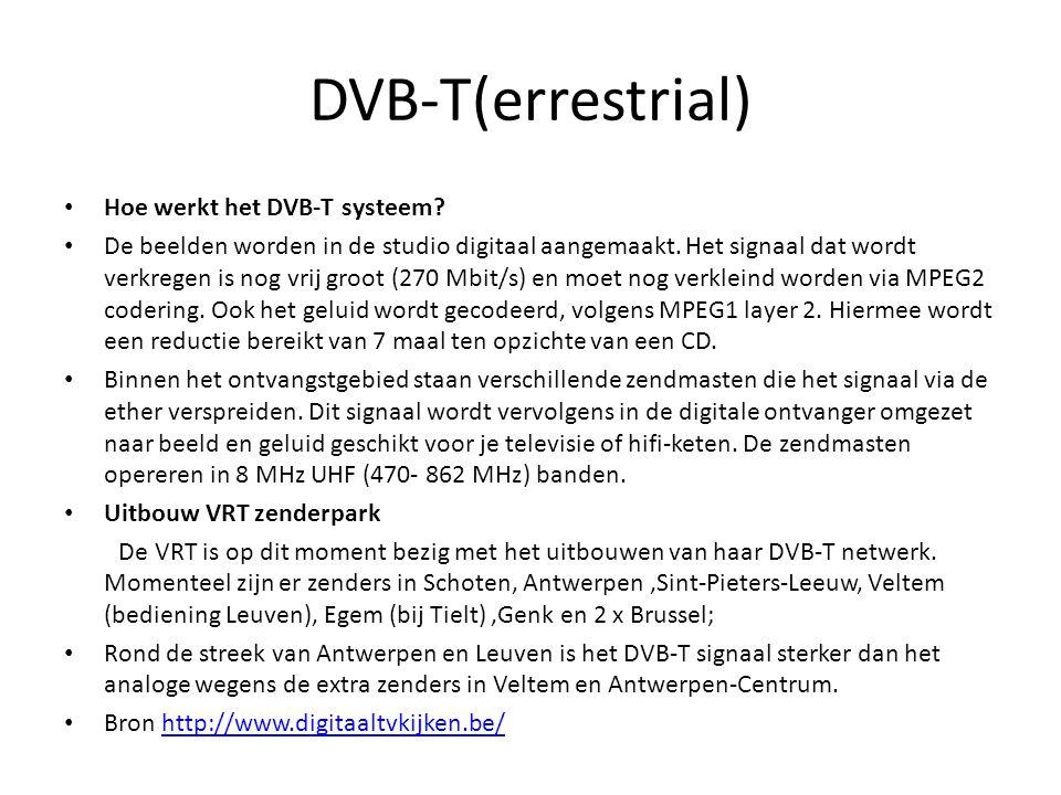 DVB-T(errestrial) Hoe werkt het DVB-T systeem
