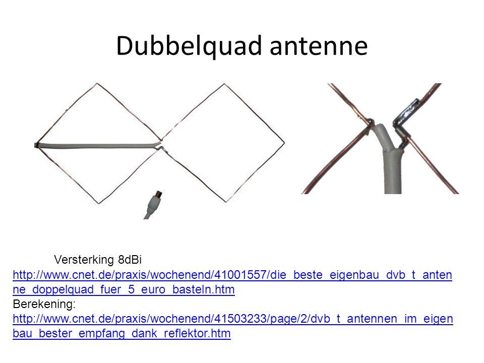 Dubbelquad antenne Versterking 8dBi