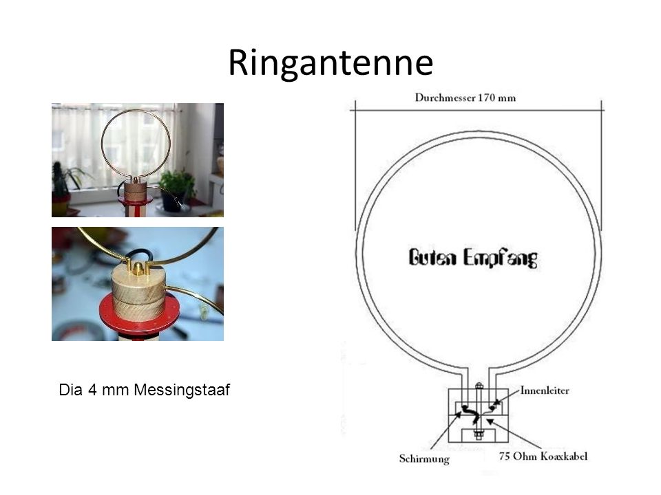 Ringantenne Dia 4 mm Messingstaaf