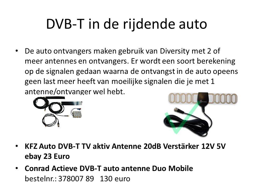 DVB-T in de rijdende auto
