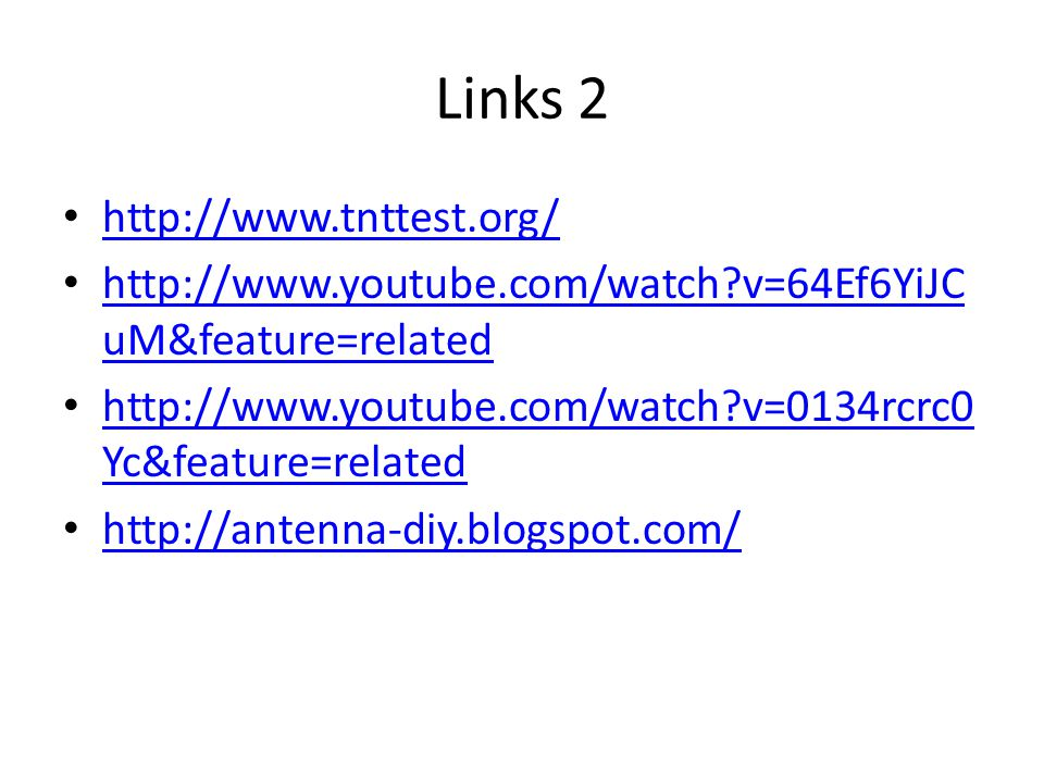 Links 2 http://www.tnttest.org/