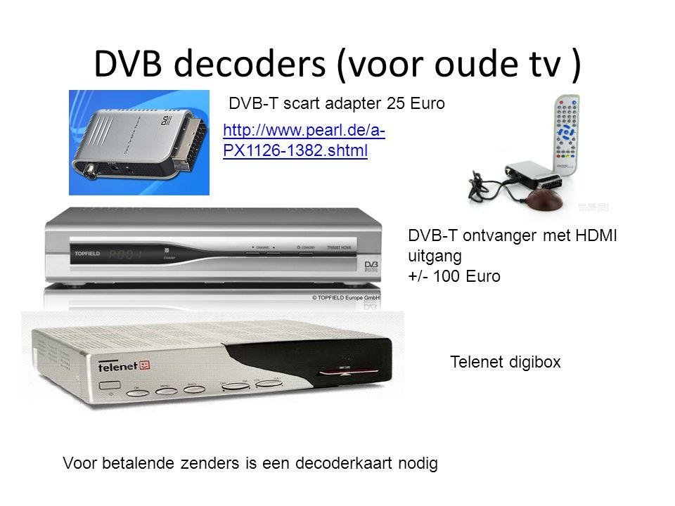 DVB decoders (voor oude tv )