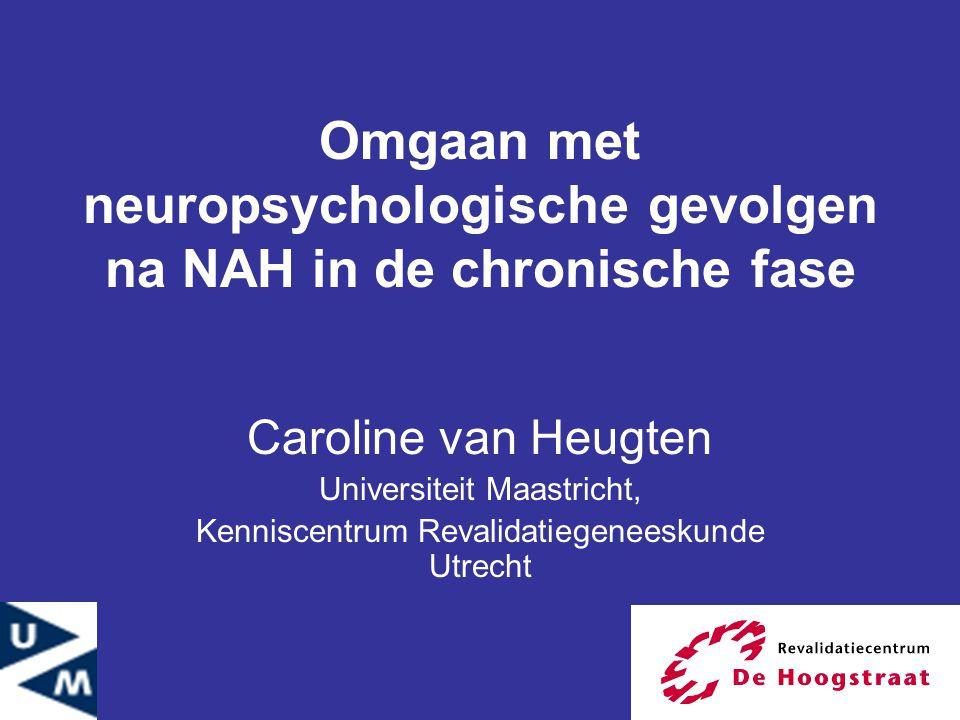 Omgaan met neuropsychologische gevolgen na NAH in de chronische fase
