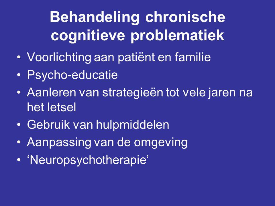 Behandeling chronische cognitieve problematiek