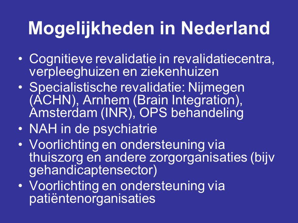 Mogelijkheden in Nederland