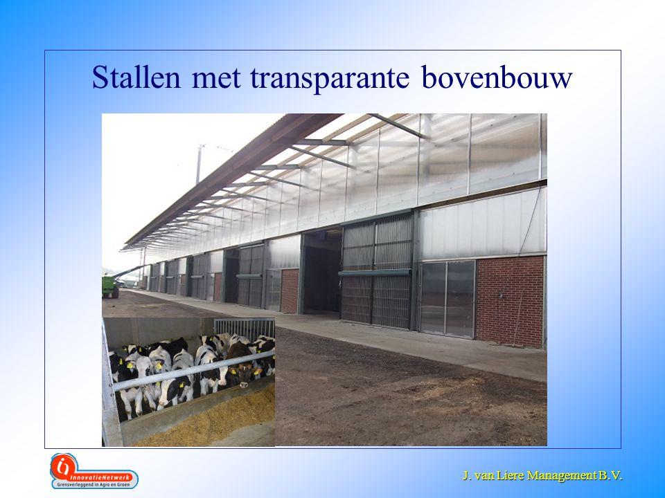 Stallen met transparante bovenbouw
