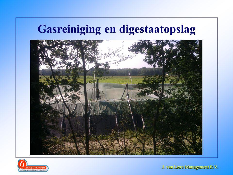 Gasreiniging en digestaatopslag