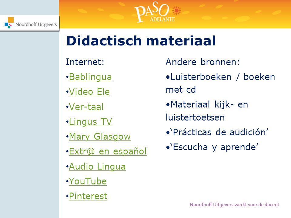 Didactisch materiaal Internet: Bablingua Video Ele Ver-taal Lingus TV