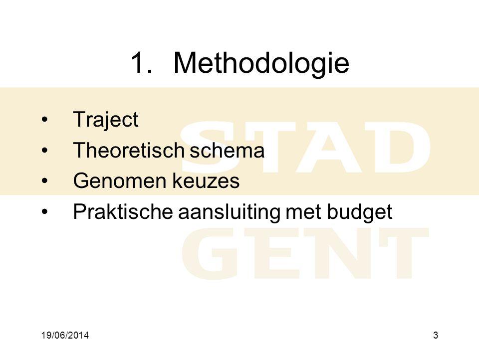 Methodologie Traject Theoretisch schema Genomen keuzes