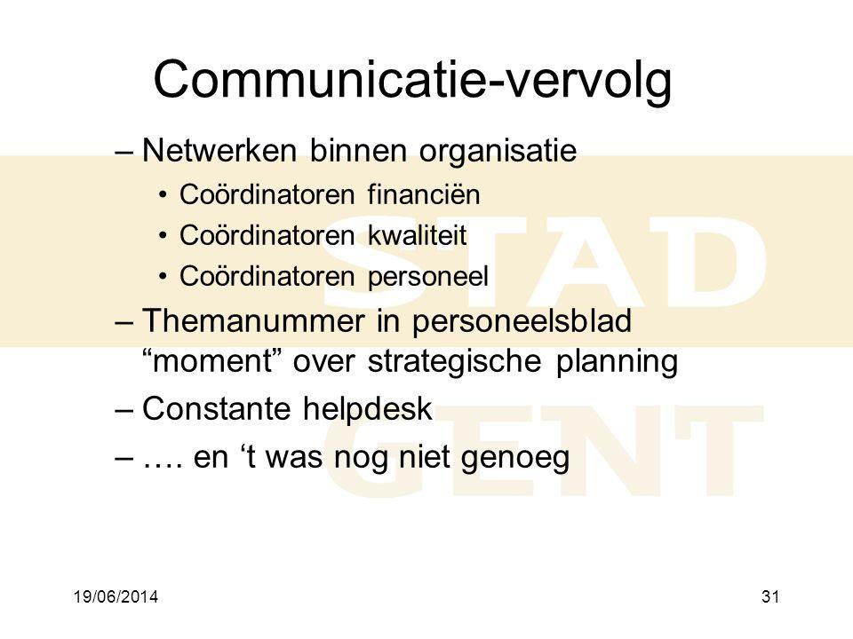 Communicatie-vervolg
