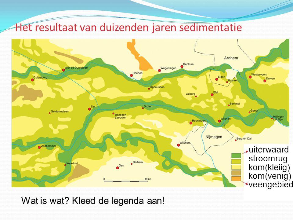 Het resultaat van duizenden jaren sedimentatie