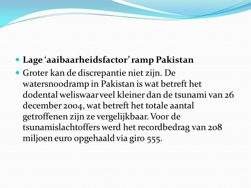 Lage 'aaibaarheidsfactor' ramp Pakistan