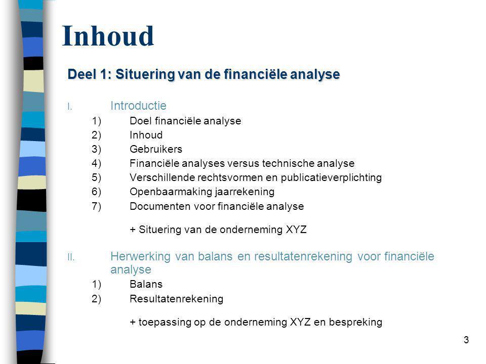 Deel 2: Analysetechnieken voor financiële analyse