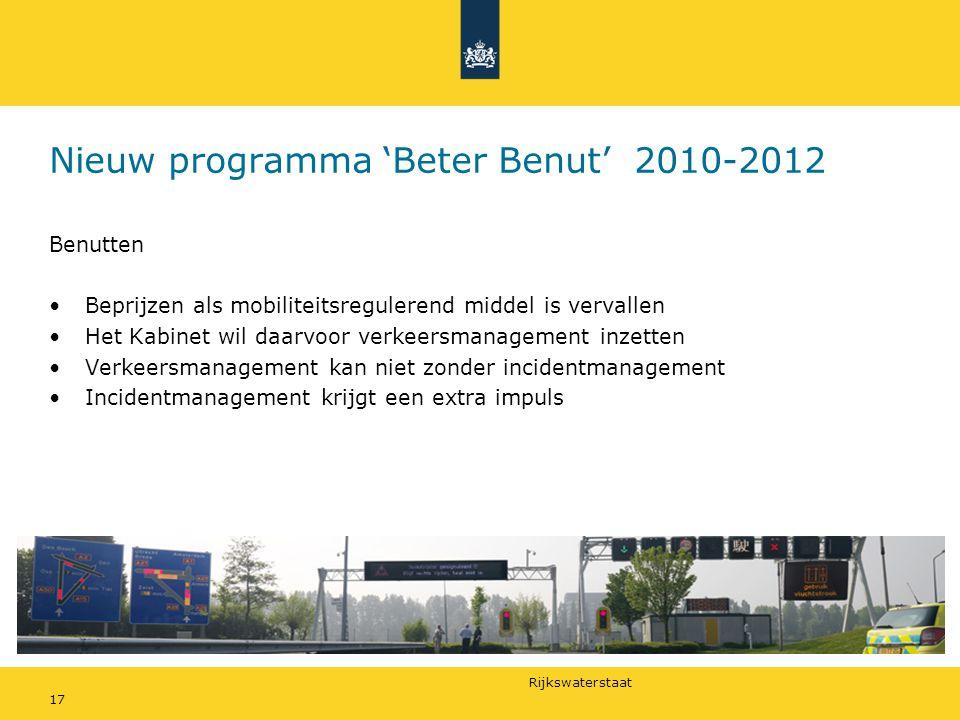 Nieuw programma 'Beter Benut' 2010-2012