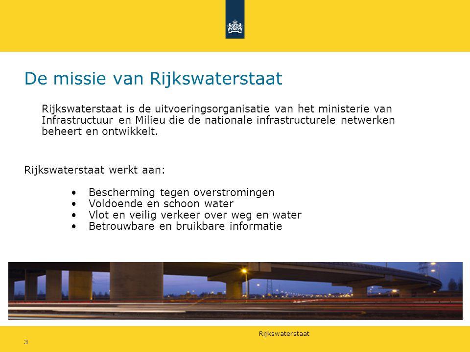 De missie van Rijkswaterstaat
