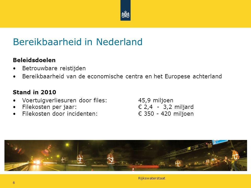 Bereikbaarheid in Nederland