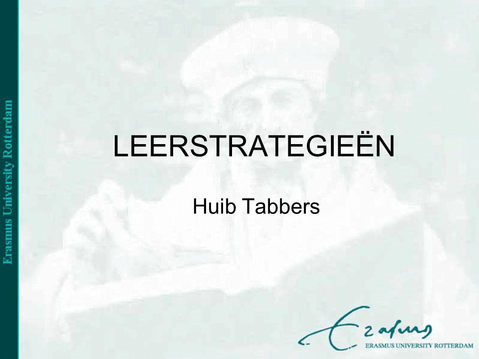 LEERSTRATEGIEËN Huib Tabbers