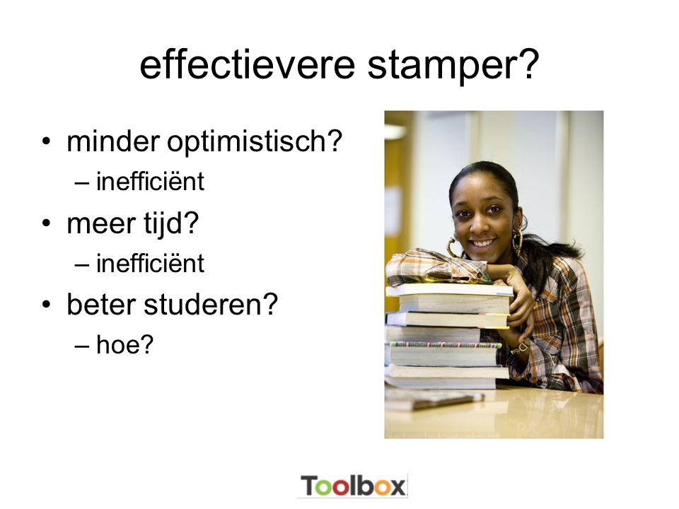 effectievere stamper minder optimistisch meer tijd beter studeren