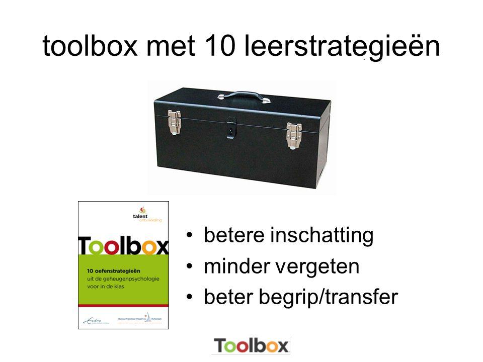 toolbox met 10 leerstrategieën